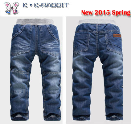 2-7Yrs Kids Boys Jeans 2015 KK-Rabbit Spring Autumn New Arrival Children's Spring Jeans Trousers Brand Denim Boy Jeans 1525