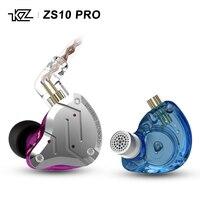 2019 New KZ ZS10 PRO 10 Units (4 BA+1 DD) Hybrid Technology HIFI AUDIO In Ear Earphone wiht 2 pin 0.75mm plug