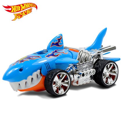 Authorized Hot Wheels Large Shark Electric Car Sound And Light Toy Limited Kids Toys Plastic