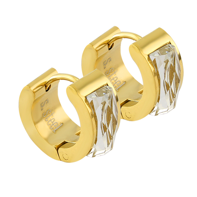 Stainless Steel Mens Hinged Hoop Male Earrings Brinco Masculino Gl Resin Gold Small Earring Fashion