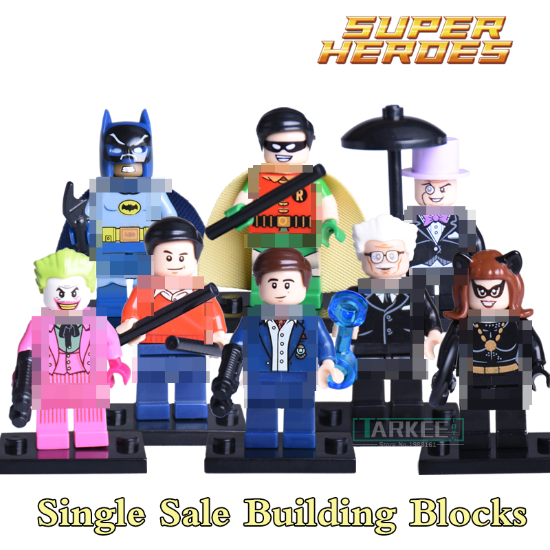 Building Blocks Superhero Batman Joker Blue Beetle Bane Black Manta Two-Face Riddler Beast Avengers Bricks diy figures Kids Toy batman super heroes mini avenger figures villains joker beetle black manta movie building block toy compatible with legoe pg080