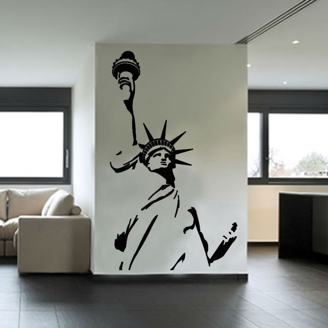 Statue Of Liberty Wall Sticker New York City Symbolic Living Room Decorative  Wall Decal Vinyl Removable