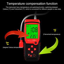 TA8406A Charging Power Handheld Natural Gas Detector Combustible Gas Sniffer Methane Leak Sensor Alarm LED light Alarm Buzzer
