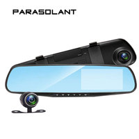 PARASOLANT Auto 4 3 Inch Rearview Mirror Digital Video Recorder Dual Lens Registratory Camcorder Full HD