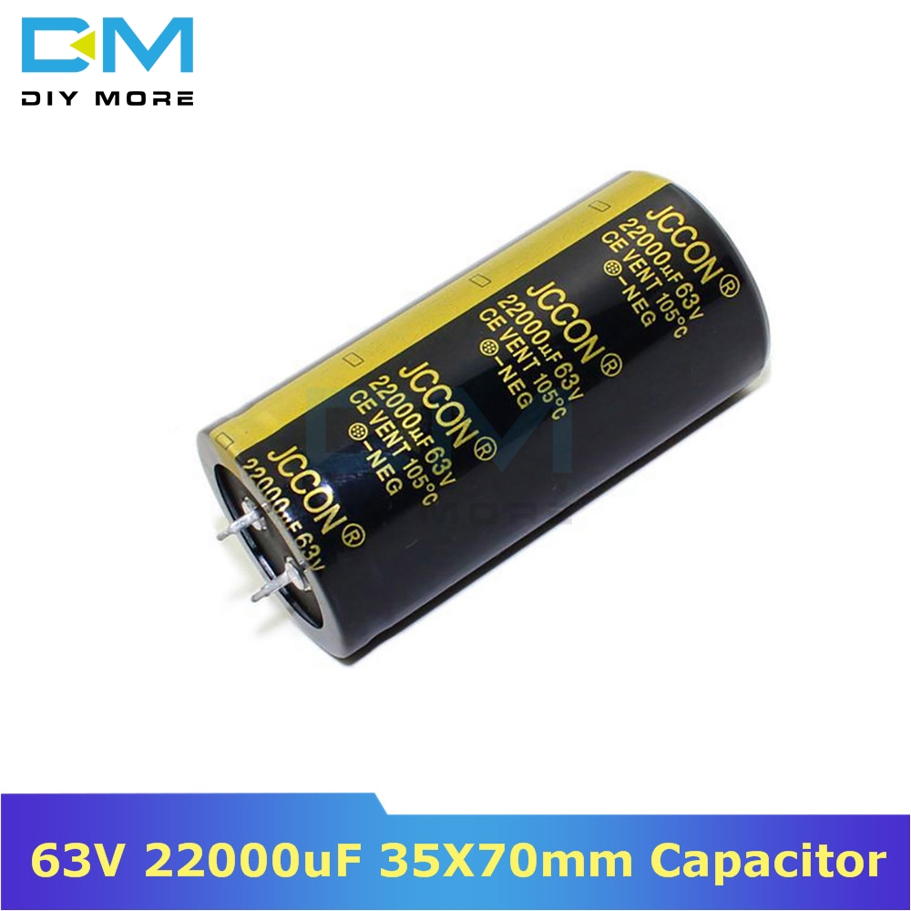 63V 22000uF 35X70mm 35X70 Aluminum Electrolytic Capacitor High Frequency Low Impedance Through Hole Capacitor 35*70mm Diymore
