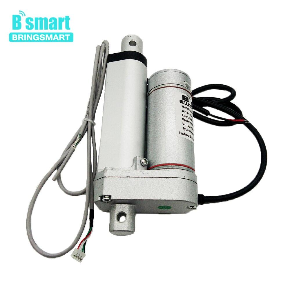 Bringsmart SRA-Y 50mm Course 2 pouces DC Hall Linéaire Actionneur avec Codeur 5-35 mm/s Charge 900N DC tubulaire Électrique Putter Moteur