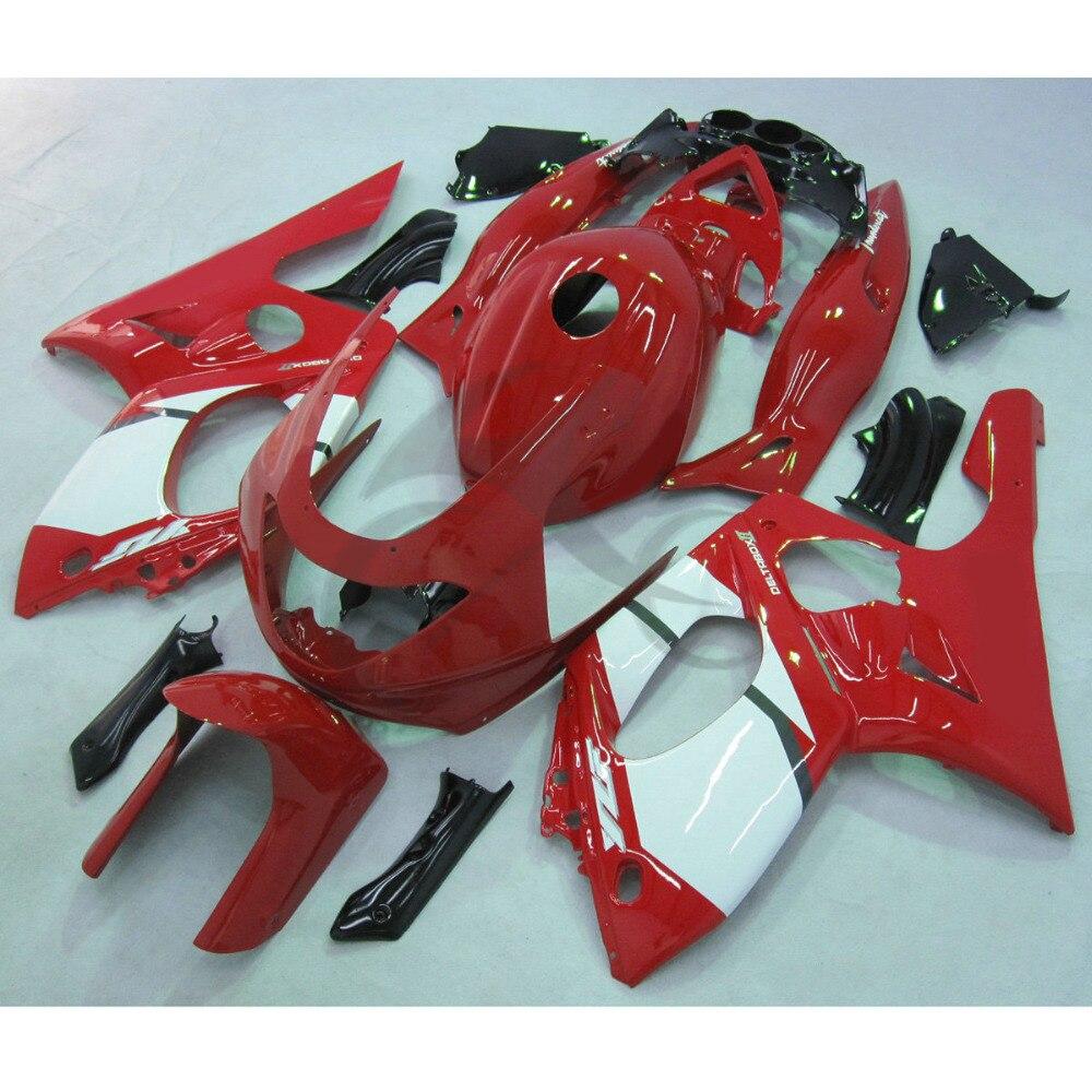 Ручной работы Красный ABS обтекатель кузова для YAMAHA YZF600R 97-07 и YZF 600 00 01 02 03