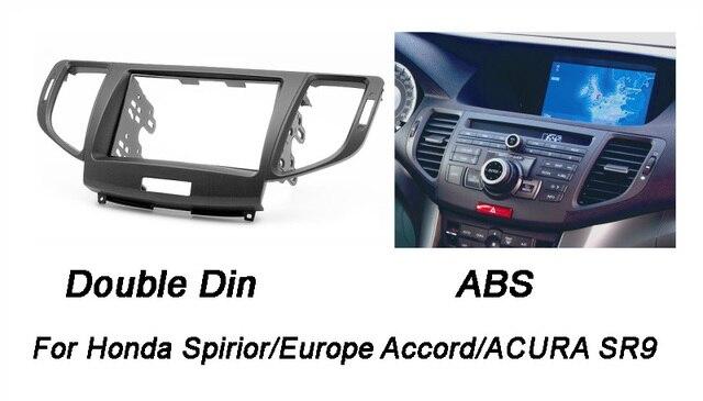 Double Din Fascia for Honda Spirior Europe Accord ACURA SR9 Radio DVD Stereo CD Panel Dash Mounting Installation Trim Kit Frame