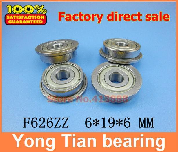 10pcs free shipping High quality ABEC-3 Z2V1 flange bushing ball bearings F626ZZ 6*19*6 mm