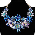 Massive Sale Best Quality All Crystals Flower Pendant Gold Chain Christmas New Year Elegance Shining Unique Jewelry Gift