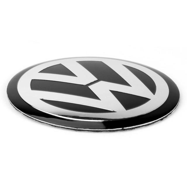 4pcs 56mm 60mm 65mm 75mm 90mm Black Car Wheel Center Hub Cap Badge Logo Emblem Decal Wheel Sticker Styling For VW 3