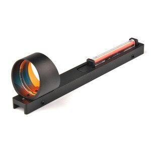 Image 3 - Tactical 1x25/1x27/1x40 Fiber Red/Green Dot Sight Scope Holographic Sight Fit Shotgun Rib Rail Hunting Shooting