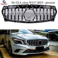 GT R Style Front Bumper Grill Mesh for Mercedes W117 CLA Class CLA180 CLA200 CLA250 CLA45 AMG 2013 +