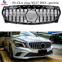 GT R Style Front Bumper Grill Mesh for Mercedes W117 CLA Class CLA180 CLA200 CLA250 CLA45 AMG 2013 +