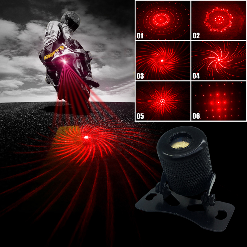 6 Patterns Transform Motorcycle Fog Lights Cool Motorbike
