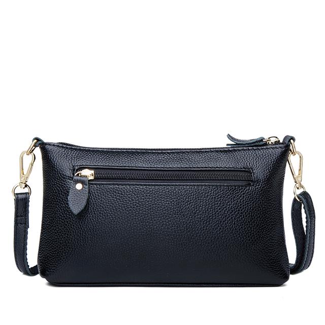 ZOOLER Designer Genuine Leather Bags Small Luxury Cow Crossbody Bag for Women Famous Brand Women Messenger Bags  Black Fashion