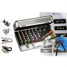 EMS Freeshipping Body Art Temporary tattoo kit 38 color Deluxe Kit glitter tattoo kit PH-K006 Special price Supplies