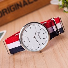 Hot brand Geneva Quartz Watch Men Women casual Unisex Nylon strap Dress watches Fashion women's watches Relogio feminino hot sale fashion geneva rose gold 4cm dial d brand style japan core nylon strap for men women unisex blue red pink