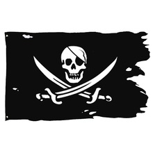 xiangying 90*150cm Creepy Ragged older broken jolly roger Skull Cross bones Pirates Flag