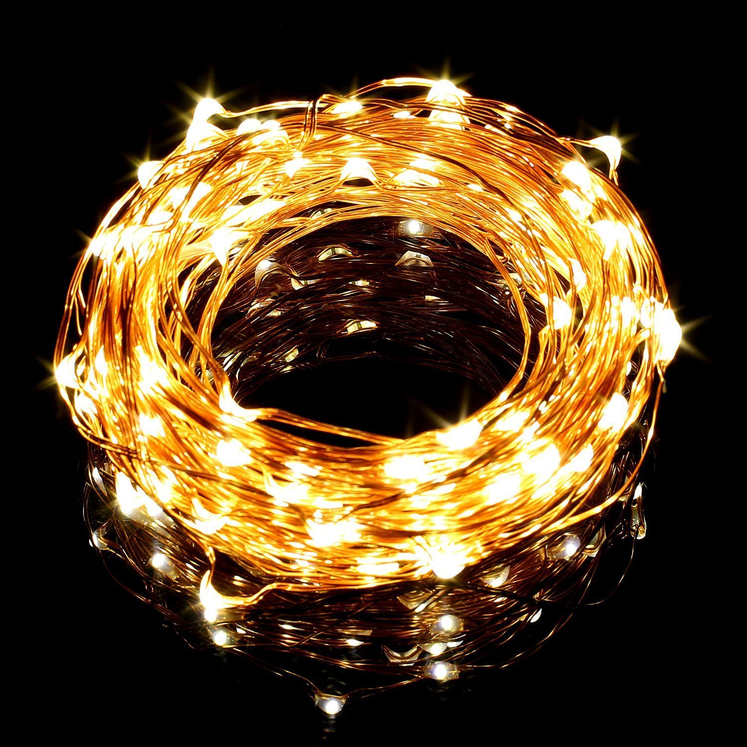 33ft 10m Copper Wire Led String Lights 100 Leds Cool Warm