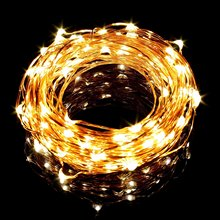 33ft/10m Copper Wire LED String Lights 100 LEDs Cool Warm White Blue Fairy String For Chritsmas Wedding Party Decorations DC 12V