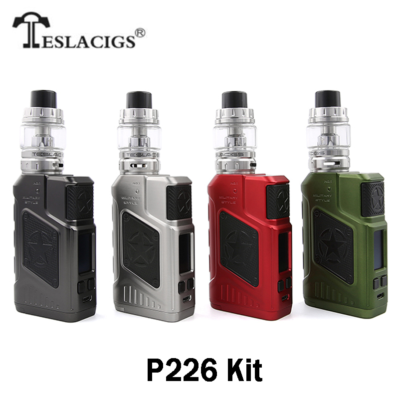 Original Tesla P226 Kit with 220w Teslacigs P226 Box Mod 4.5ml Tesla Tind Tank 0.18ohm TS-X3 Coil Fit 18650 Battery E Cig Vape(China)