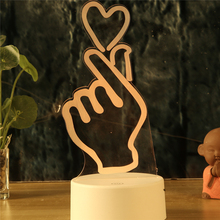 The LOVE YOU Valentine's Day gift colorful 3D Light touch lights LED 7 colors love action Night lamp remote control lighting GiC i love you valentine s day remote control night light