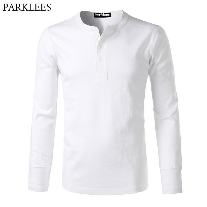 Fashion American Casual Heave Weight Men T Shirt 2017 Amekaji Long Sleeve Henley Shirt Slim Tee Shirt Homme Cotton Mens T Shirt