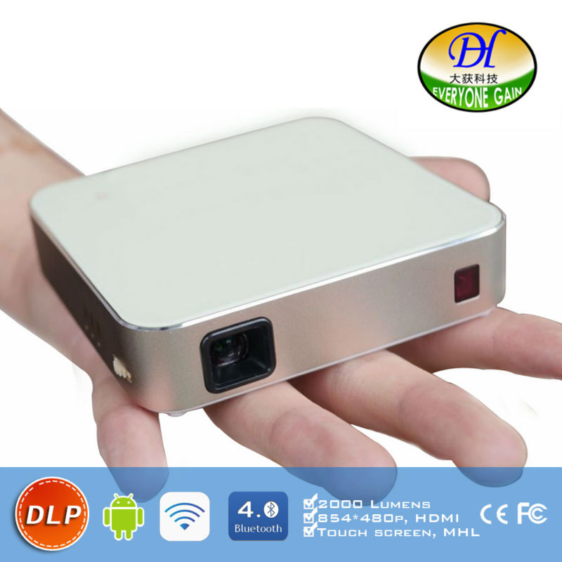 DH A330 Handheld Portable Smart Android font b Projector b font DLP Full HD Battery Home
