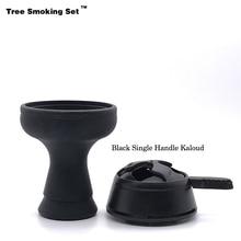 Hookah Black Bowl Sheesha Kaloud Chicha Narguile Nargile Smoking Pipe Shisha Accessories Cachimba Kalem Gift TWAN0505