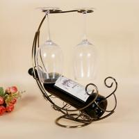Antique Bronze Metal Wine Bottle Champagne Storage Holder Wine Rack Bar Stand Bracket Display Bracket Decor