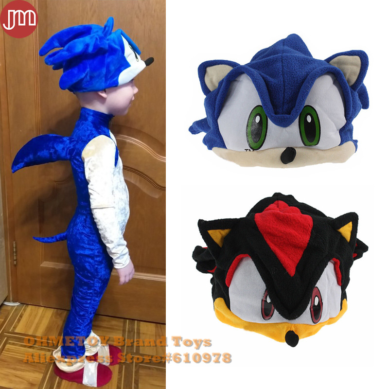 "Sonic fleece cap the Hedgehog 7.5/"" Stuffed Animal Cartoon Game Plush soft Toy"