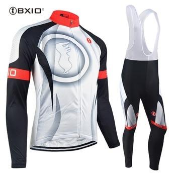 BXIO Quente Fleece Inverno Camisa de Ciclismo Manga Longa dos homens de Bicicleta Ciclismo Define Ropa ciclismo Roupas de Bicicleta Desgaste Ao Ar Livre 073
