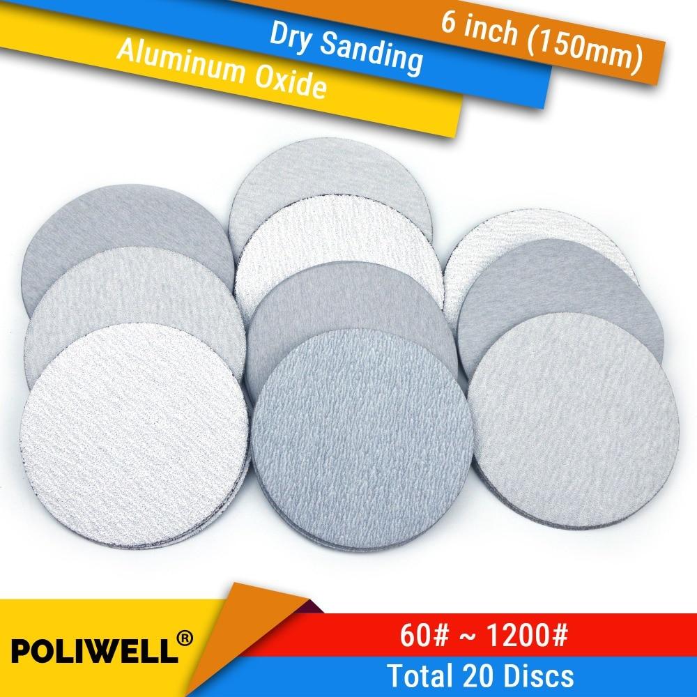 6 Inch 800 Grit Hook and Loop Metal Sharpening 5 Polishing Film Sanding Discs
