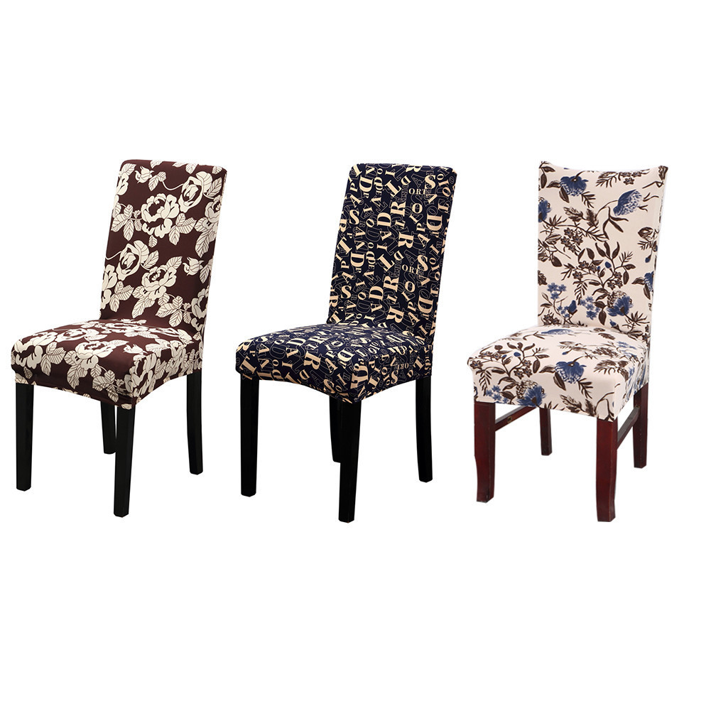 grey christmas chair covers folding quality spandex elastic floral printed removable anti dirty modern banquet dining stretch cover for decor