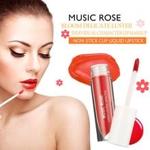 Купить с кэшбэком Music Rose Korea 24 Colors Liquid Lipstick Lip Gloss Women Makeup New 2019 Matte Lip Gloss No Fading Moisturizer Hydrating