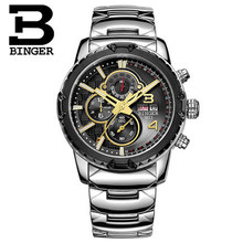 Switzerland Chronograph Watch Binger Casual Wristwatch Military Men Sport Auto Digital Watches Luxury Brand Relogio Masculino