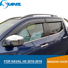 for Haval H5 2010-2018 Window Visor deflector Rain Guard for Haval H5 2010 2011 2012 2013 2014 2015 2016 2017 2018 SUNZ цена