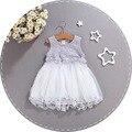 2016 Verano vestido de la muchacha ropa de bebé de La Princesa del vestido de Fiesta de cumpleaños Vestido de Encaje niñas infantiles vestido de las muchachas del niño de la flor de La Boda
