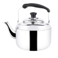 Capacity 5L Whistling Kettle Stainless Steel Tea Kettle Mirror Finish Water Kettle Gas Oven Induction Cooktop Kettle