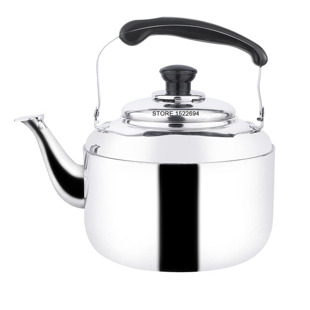 Capacity 5l Whistling Kettle Stainless Steel Tea Mirror Finish Water Gas Oven Induction Cooktop