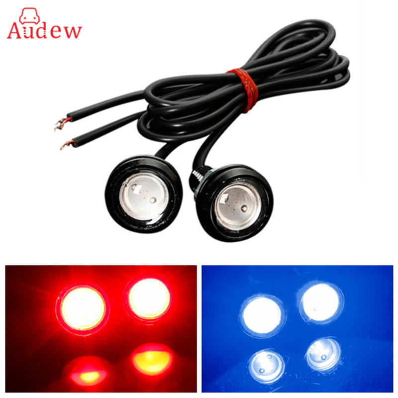 2Pcs 10W LED White Eagle Eye Car Light High Power Car Daytime Running Light Parking Backup Light Auto White Bulb Car LED Light 12v led light auto headlamp h1 h3 h7 9005 9004 9007 h4 h15 car led headlight bulb 30w high single dual beam white light