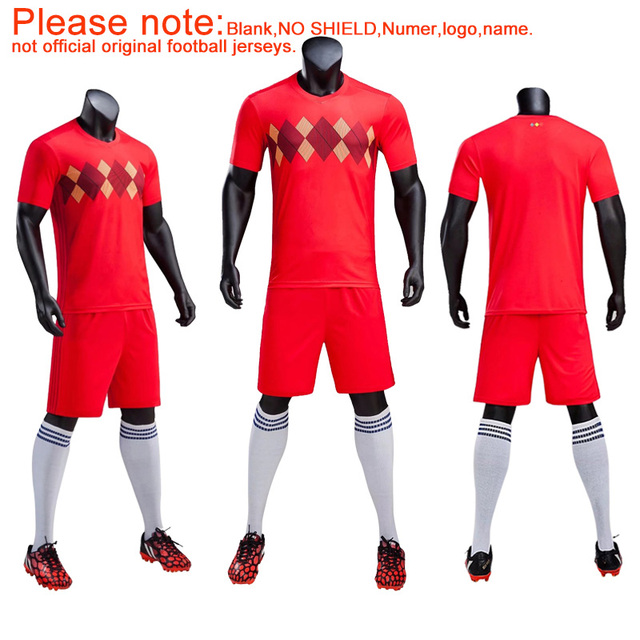 bda98d8e86a Adult&Kids Sizes 2018 Football Match Belgium Soccer jerseys Sportswear  Soccer Training Youth Kits Football Uniforms