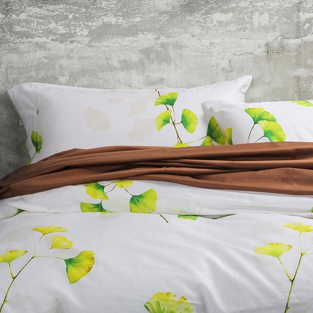 New 100% Cotton Bedding Set Plant flower Ginkgo leaf printed Duvet  TT18