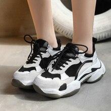 Women Casual Shoes Faux Suede Dad Platfo