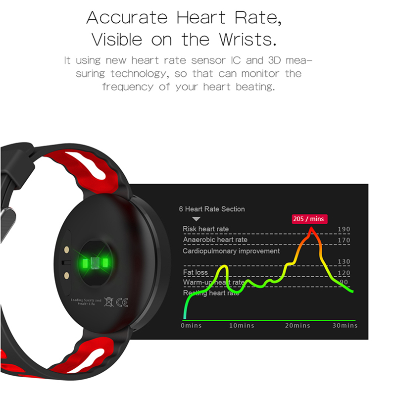 Original T1 Bluetooth Sports Heart Rate Smart Band with Blood Pressure Monitor IP68 Waterproof Wristband for iOS Android Phones