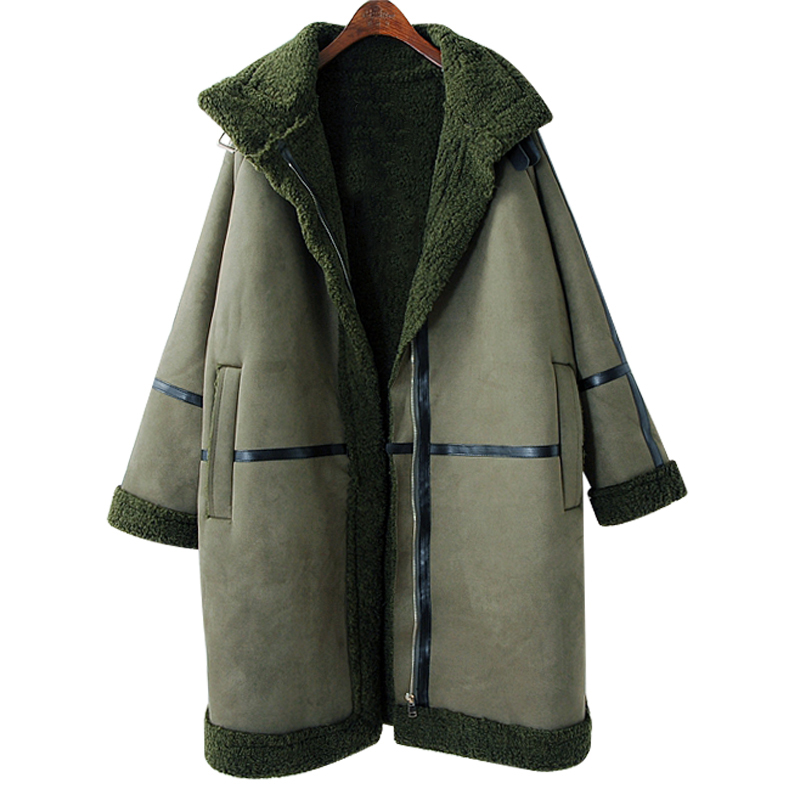 SuperAen Thicken Warm Parkas Coat Women Cotton Jacket Korean Style Loose Winter New Fashion Wild Leather Cashmere Parkas Coat factory outlets 2014 new winter in europe and america women british style stitching cotton quilted jacket short parkas coat