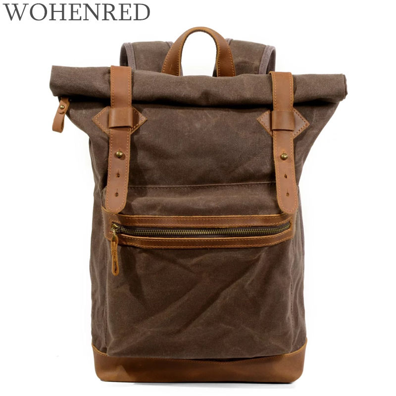 2018 New Casual Male Backpacks School Bag Boys For Youth Waterproof Laptop Backpack Men/Women Casual Leather Canvas backpacks