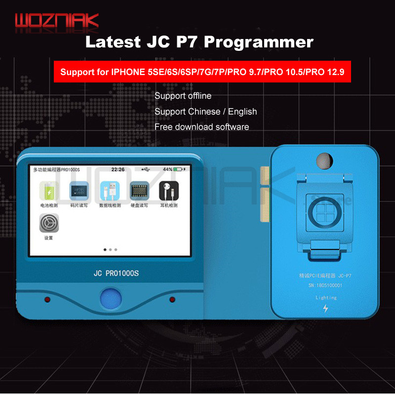 JC Pro1000S Multi Function HDD NAND Programmer JC P7 NAND Read Write Error Remove For iPhone
