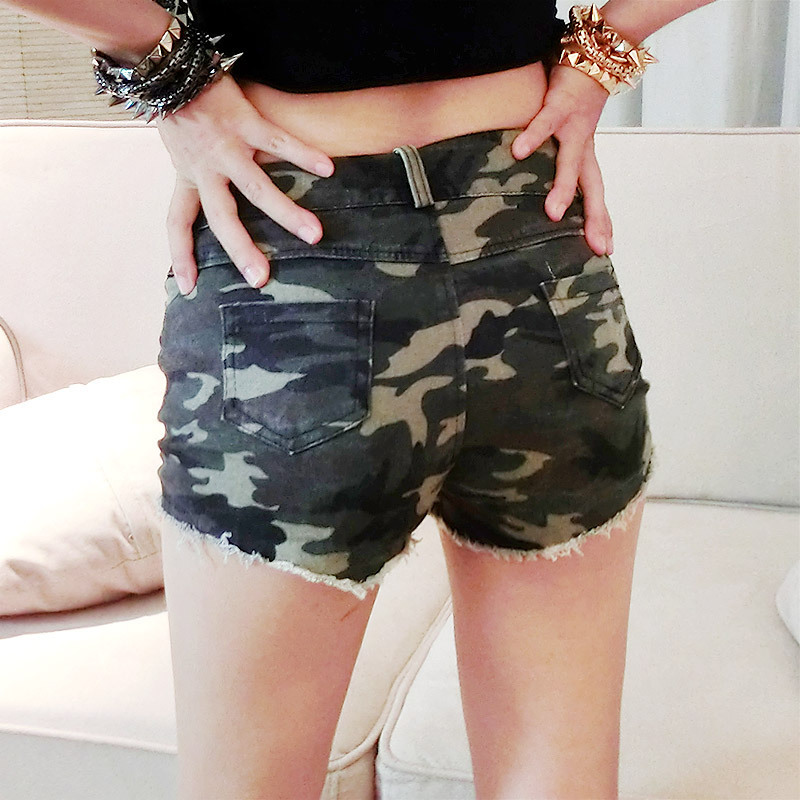Online Shop 2015 New Arrival ladies Sexy high waisted camouflage ...